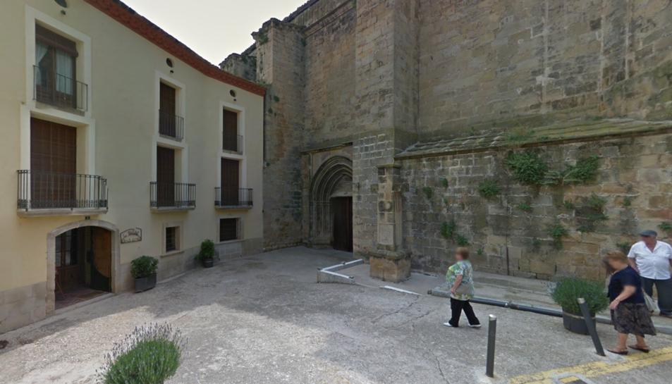 La plaça de l'Església és un dels espais del municipi que es remodelarà.