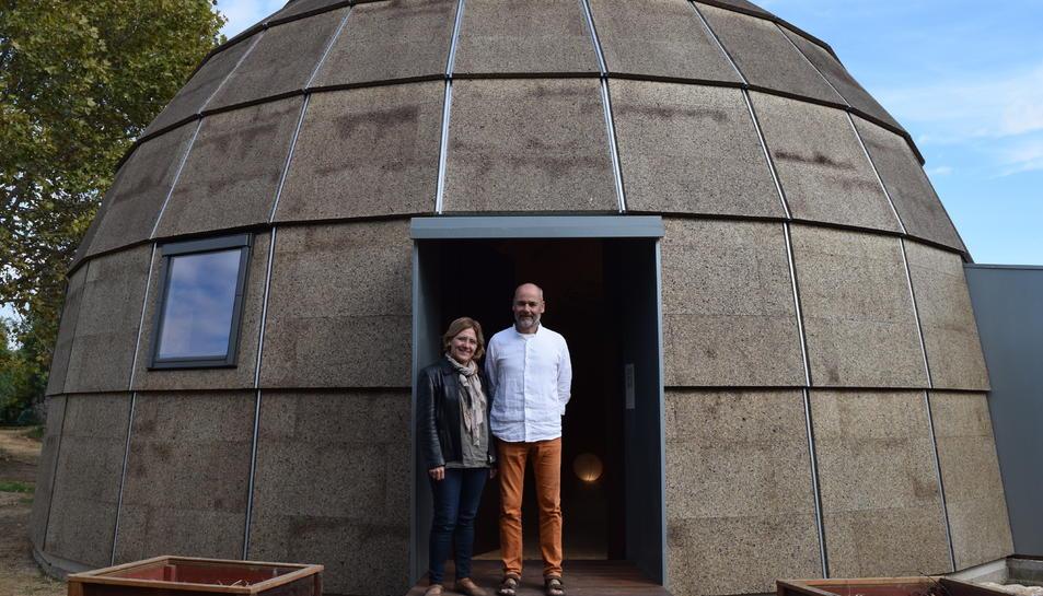 La casa de mostra està instal·lada a l'Institut d'Horticultura i Jardineria de Reus.