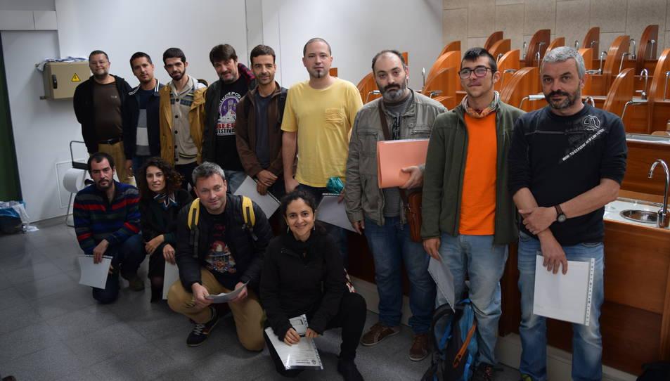 Els 15 participants a la prova que el BJCP ha realitzat a la Facultat d'Enologia de la URV.