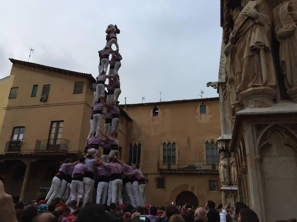 4de9f de la Colla Jove de Tarragona a la Diada de l'Esperidió al Pla de la Seu.