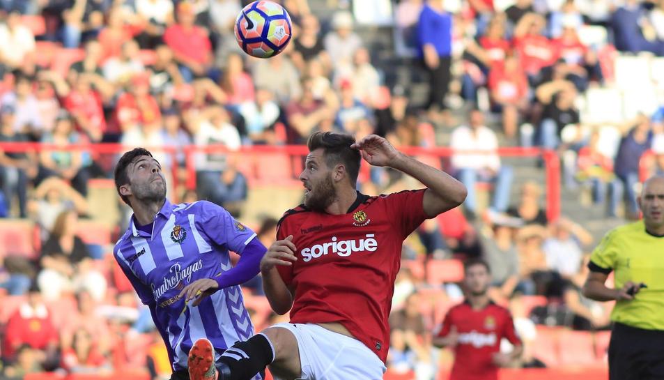 Álex López, contra el Valladolid.