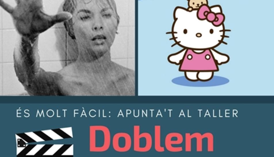 imatge del cartell del taller del CNL de l'Àrea de Reus 'Doblem en català?'