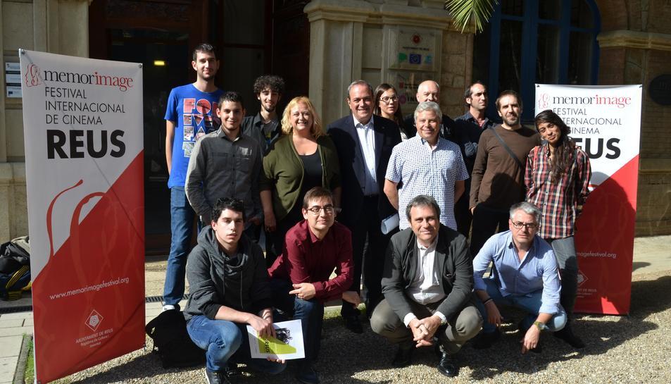 Els participants a la presentació del festival de cinema de Reus.