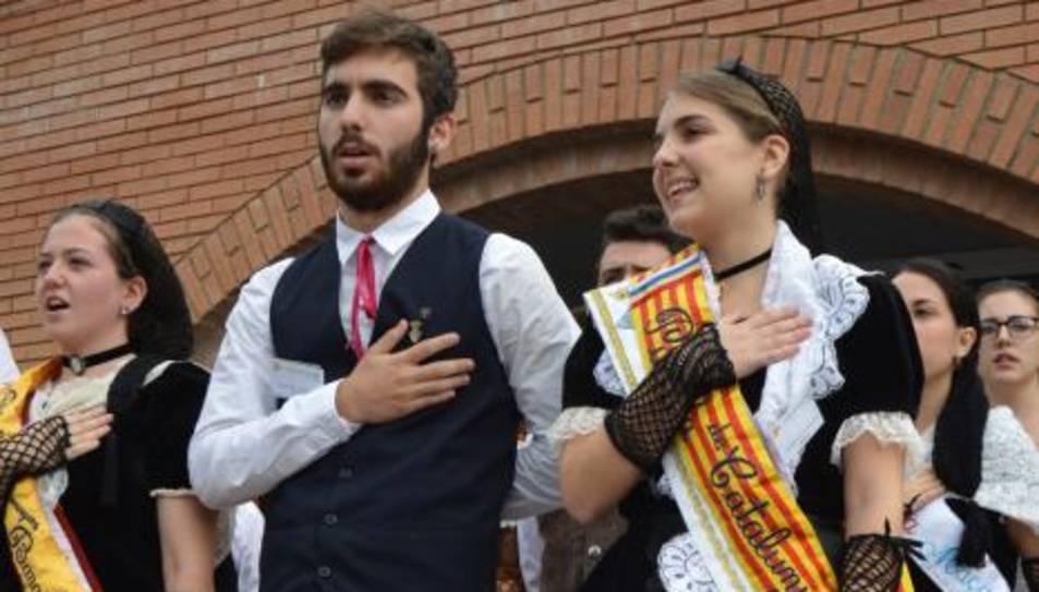 Dària Ferrer i Adrià Malagón, Pubilla i Hereu de Catalunya d'aquest 2016.
