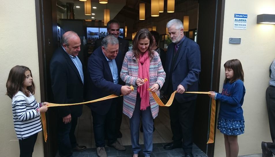 Imatge del moment de la inauguració oficial de l'Agro-Tast del Vendrell.