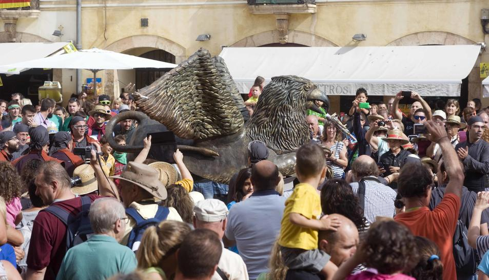 El Griu gran es va incorporar al Seguici Popular fa dos anys, de la mà dels veïns de l'Arrabassada.