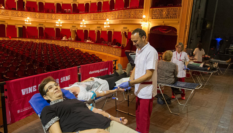 Un moment de la passada Marató de Donació de Sang de Reus.