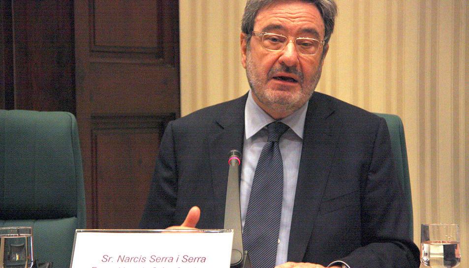 L'expresident de Catalunya Caixa, Narcís Serra, va comparèixer davant la comissió d'investigació del Parlament sobre la gestió de les caixes el 16 de juliol del 2013.