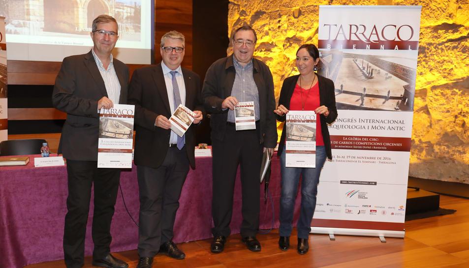 Joaquín Ruiz de Arbulo, Jordi Agràs, Joan Josep Marca i Begoña Floria, aquest dimecres.