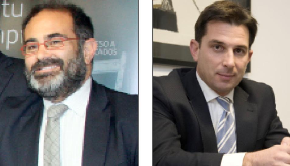 A l'esquerra, Xavier Tarrés i, a la dreta, Manel Albiac.