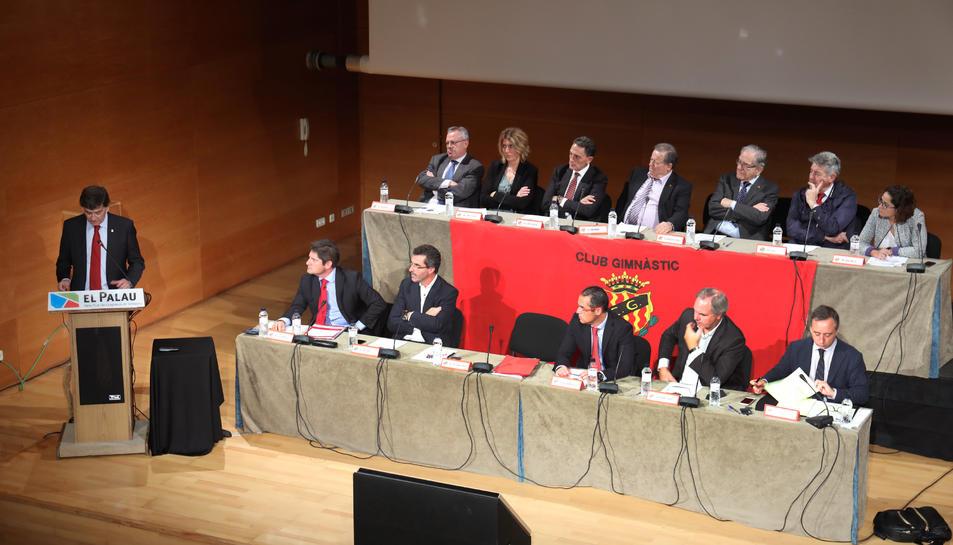 Andreu, explicant els números i la situació esportiva.