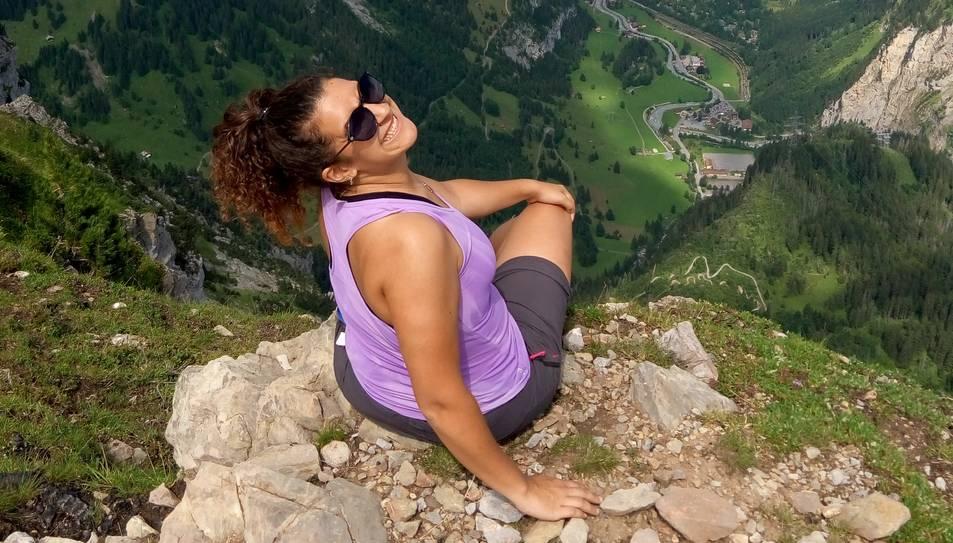 Vallejo al cim Gallihorn a Kandersteg.