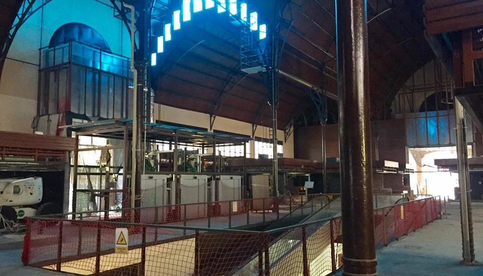 L'interior del Mercat Central.