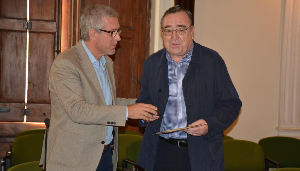 L'alcalde, Josep Fèlix Ballesteros, i Joan Josep Marca, nou Senador.