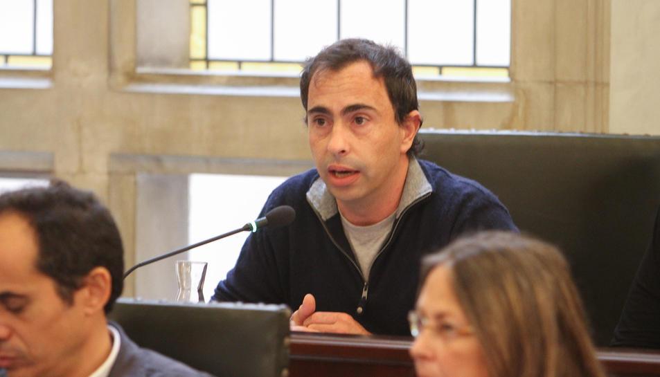Una imatge de Vidal, en el debat sobre les ordenances fiscals.