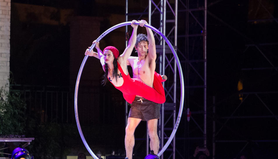 L'espectacle inaugural del festival Trapezi, l'any passat.