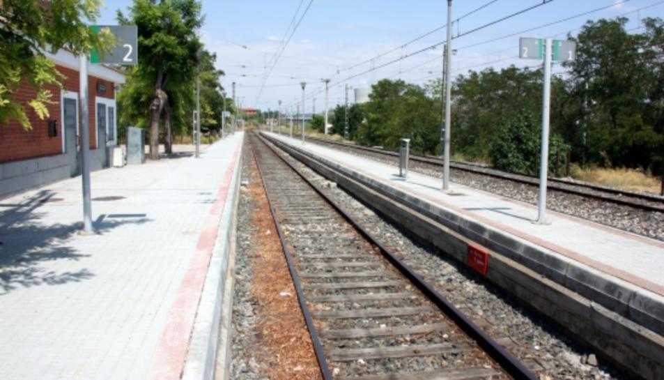 Estació de tren d'Ascó.