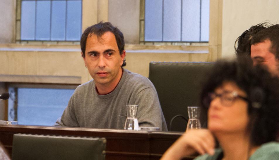 David Vidal en un moment del ple municipal celebrat el passat dimecres.