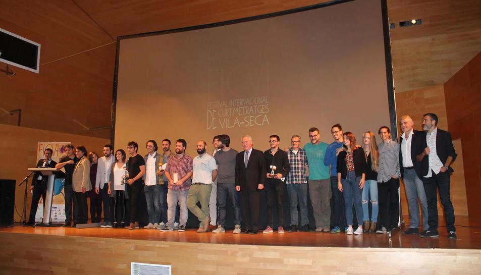 Els premiats, a l'Auditori Josep Carreras.
