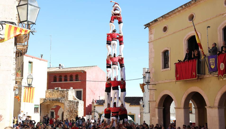3de8 de Xicots de Vilafranca a la plaça del Pou d'Altafulla.