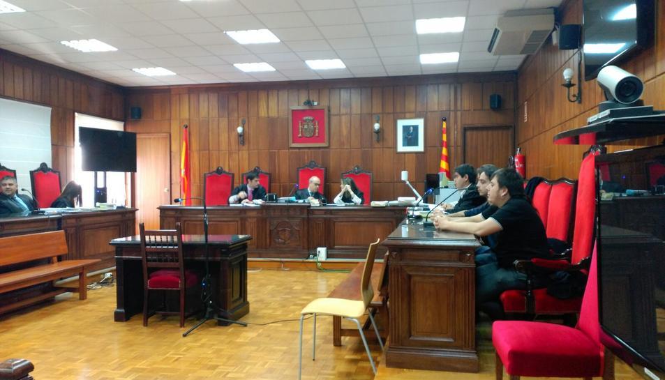 Imatge del judici del Cas Bershka, que s'està celebrant aquest dimecres a l'Audiència Provincial de Tarragona.