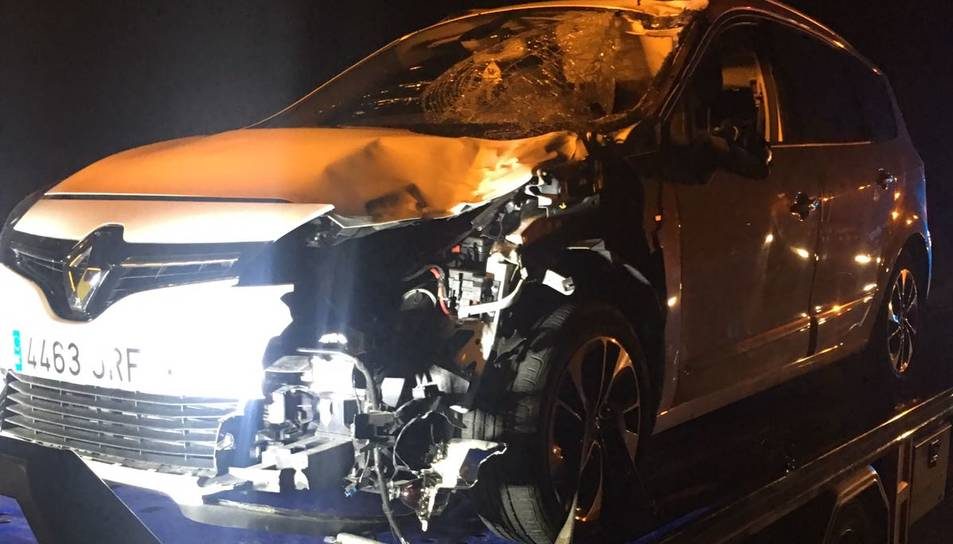 L'estat del vehicle després de l'impacte.