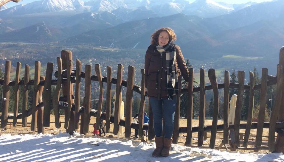 L'Anna Montané a Zakopane, al sud del país, amb les primeres nevades de la temporada.