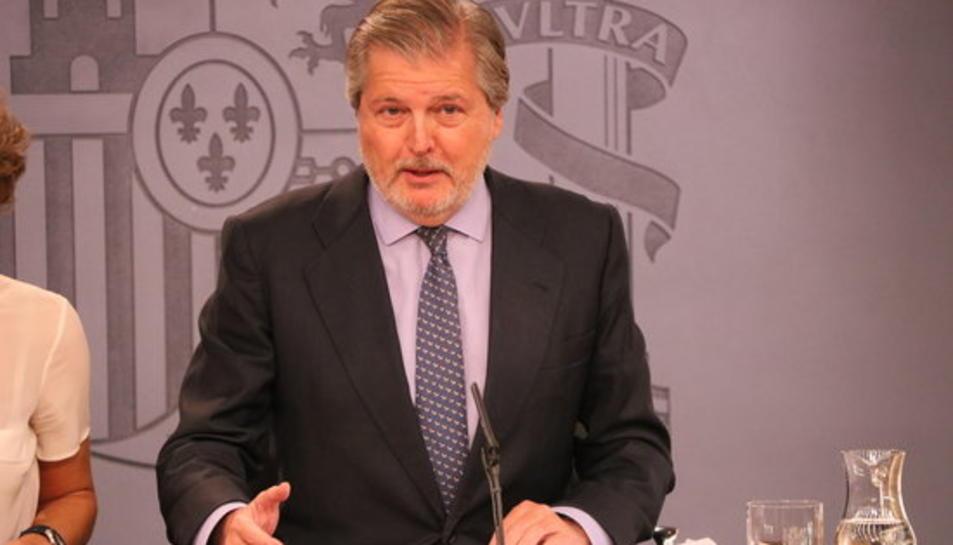 El portaveu del govern espanyol, Íñigo Méndez de Vigo, a la roda de premsa posterior al consell de ministres.