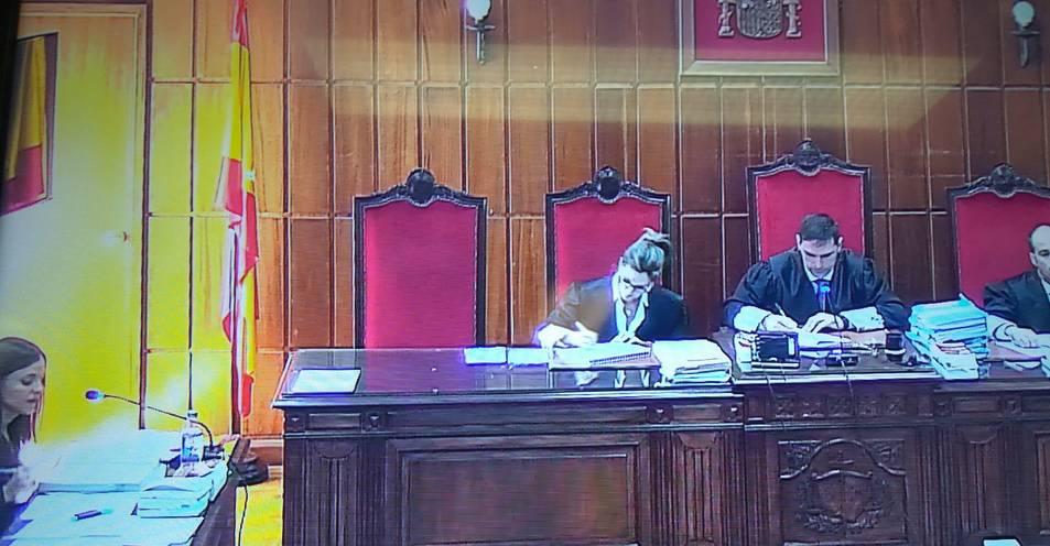 Imatge de la sala de vistes de la secció quarta de l'Audiència Provincial on va tenir lloc el judici.