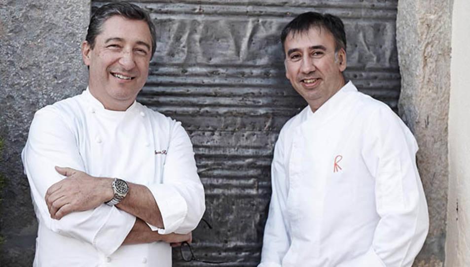 Joan Roca, a la l'esquerra, i Salvador Brugués, a la dreta.