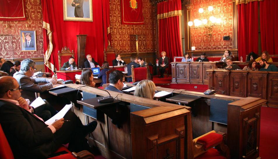 Pla general del ple ordinari de l'Ajuntament de Tarragona, en el qual s'han debatut diverses mocions relacionades amb els Jocs Mediterranis, el 18 de novembre del 2016
