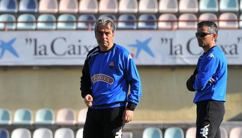Natxo González, acompanyat de Xavi Bartolo.