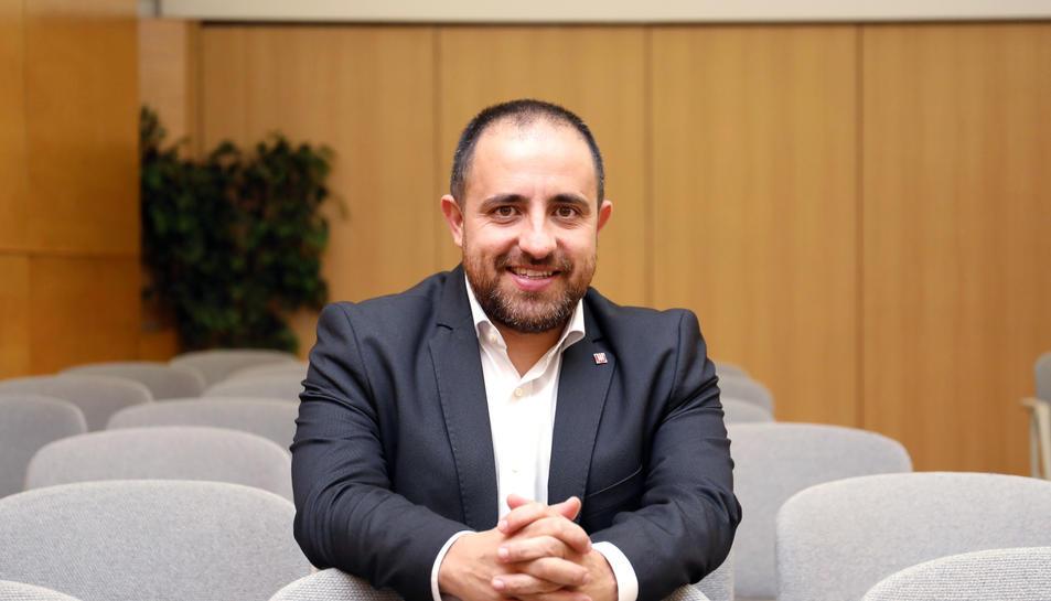 Fabián Mohedano en una visita a Reus la setmana passada.