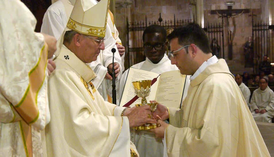El nou prevere vicari de les parròquies Prioral de Sant Pere Apòstol i la Puríssima Sang de Reus.