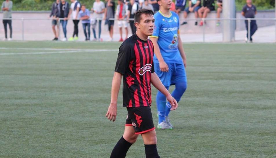 El jugador expulsat, Ruben Sánchez Giner.