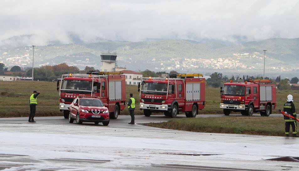 Simulacre d'accident aeri a l'Aeroport de Reus