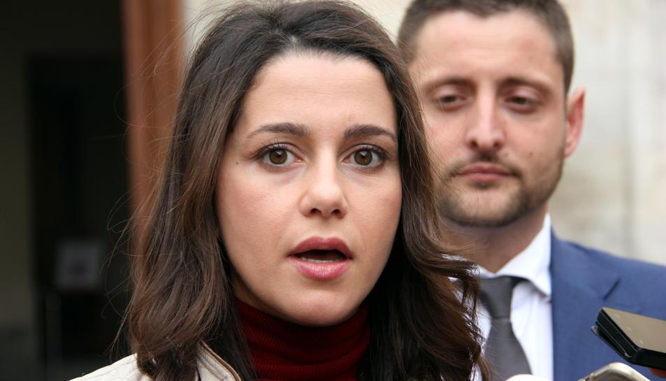 La líder de C's a Catalunya, Inés Arrimadas, aquest dimecres a Tarragona.