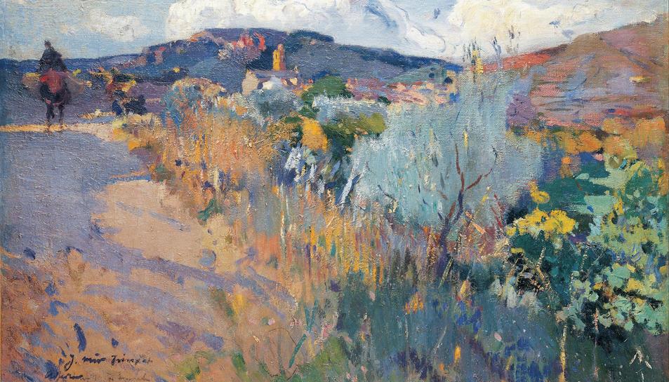 Un quadre de les vistes de l'Aleixar de Joaquim Mir.