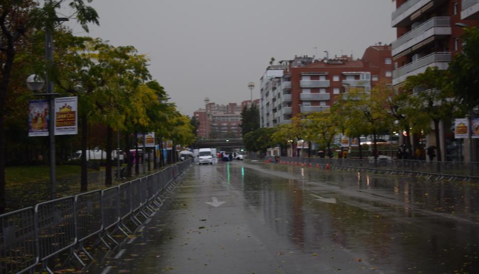 Aquest era l'estat que presentava el carrer Vidal i Barraquer