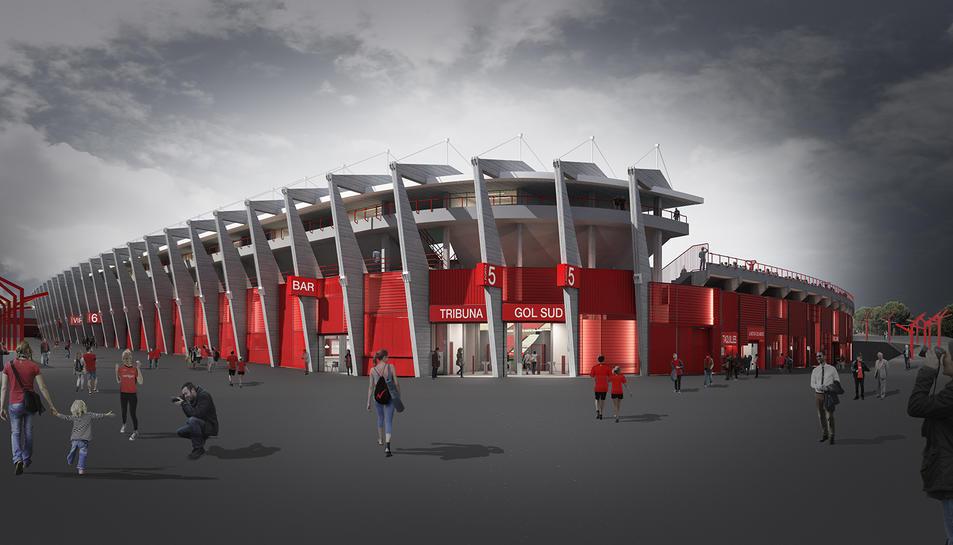 Imatge virtual del projecte de reforma del Nou Estadi.
