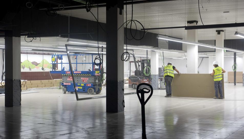 La major part de l'espai de la planta baixa del nou mercat l'ocuparà el supermercat.