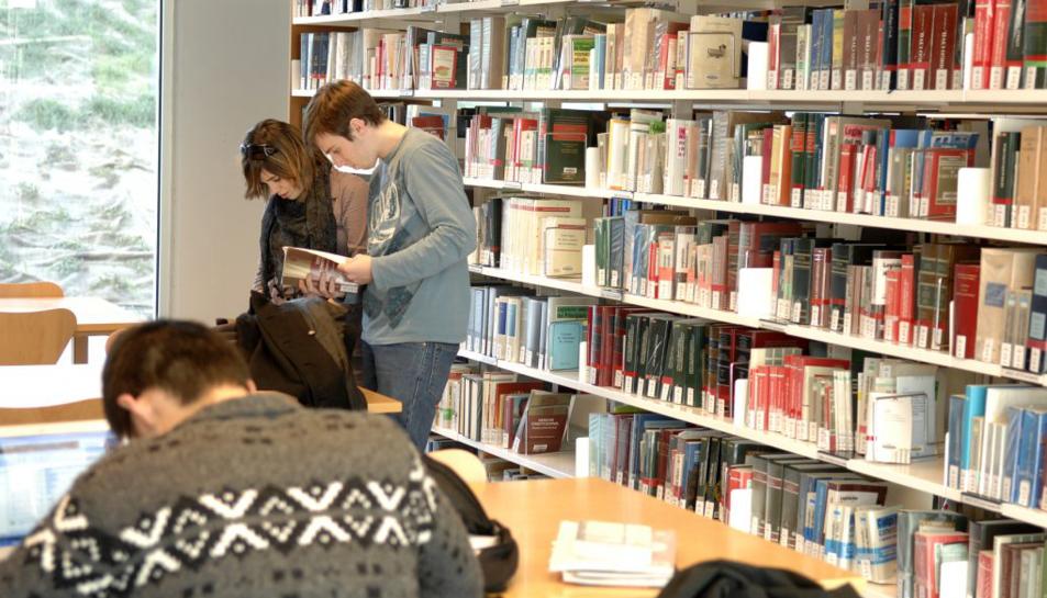 Imatge del CRAI del Campus Catalunya de la URV.