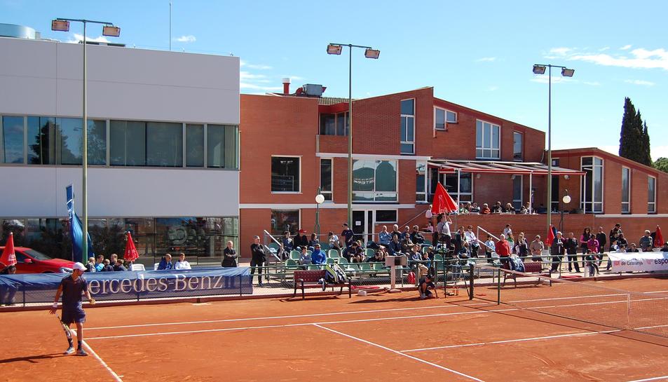 Una imatge d'una semifinal de l'ITF Futures del 2013, al Monterols.