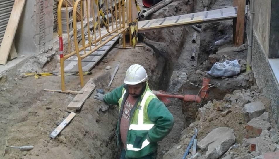 Les obres han fet que apareguin restes de quatre sitges.