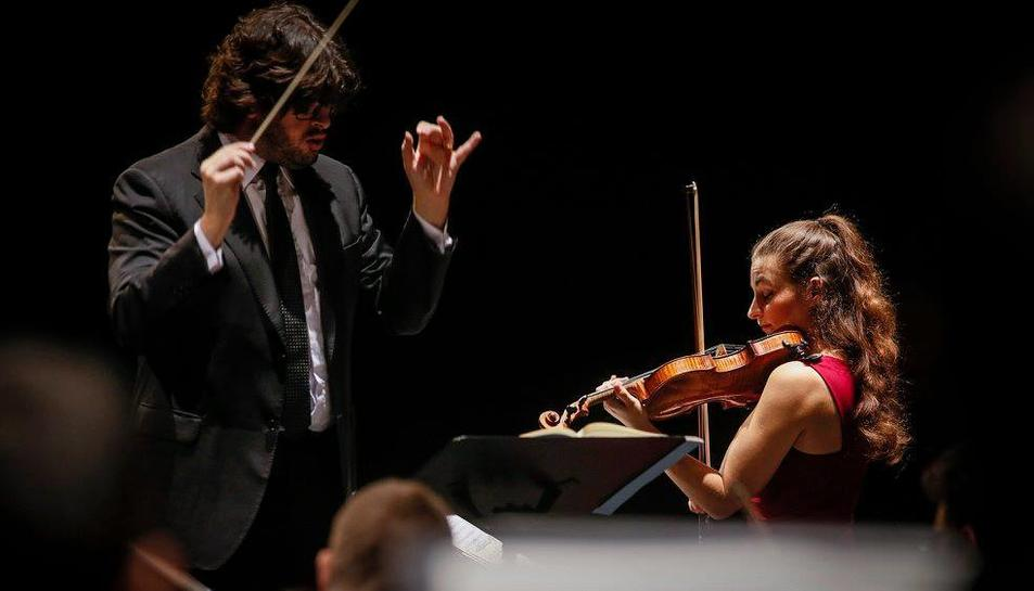 Tomàs Grau i Alexandra Soumm durant el concert.
