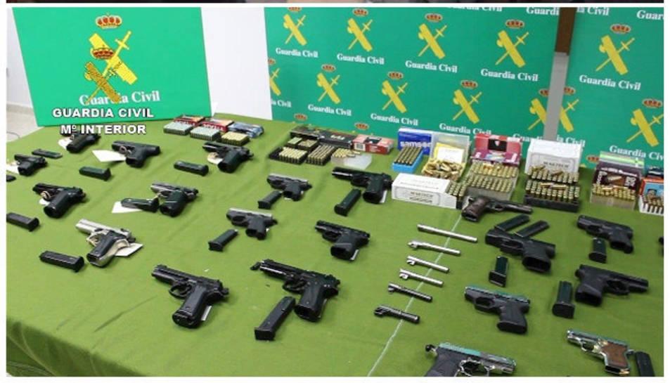 Les armes intervingudes per la Guàrdia Civil.
