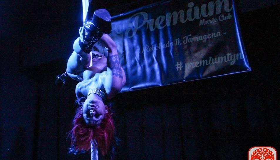 Chiqui Martí en un moment de la seva actuació.