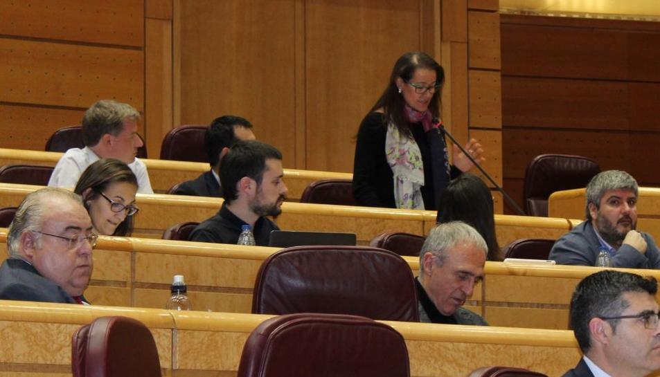 La senadora d'ERC @lauracastelfort pregunta si el govern espanyol pensa acomplir amb el compromisos d