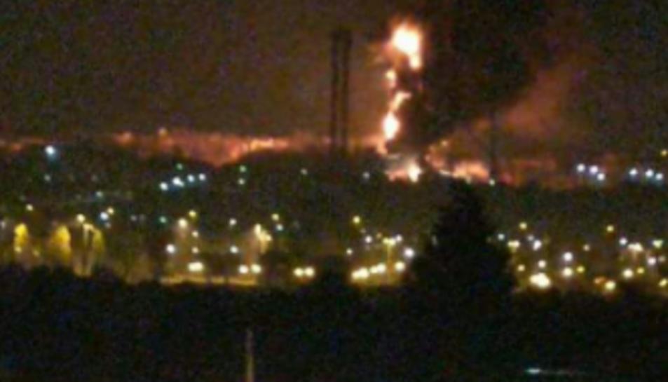 Imatges de l'incendi.