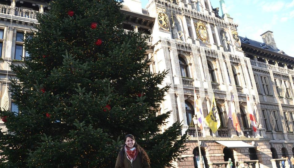 Núria Vilamajor a la ciutat d'Anvers (Bèlgica).
